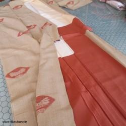 Tsumugi Kimono Falter -...