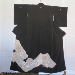 Tomesode seidener Kimono -...