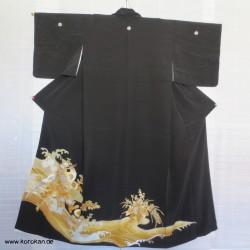 Tomesode Seiden Kimono mit...