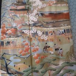 Tomesode Seiden Kimono -...