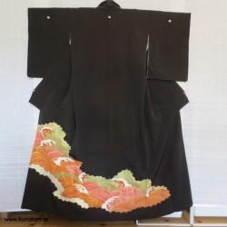 Tomesode Seiden Kimono...