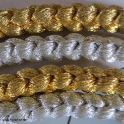 Kordel Obijime, gold / silber