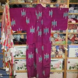 Meisen Komon Kimono mit...