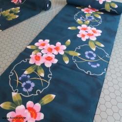 Yukata, große bunte Blüten...