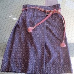 Wickelrock aus Kasuri...