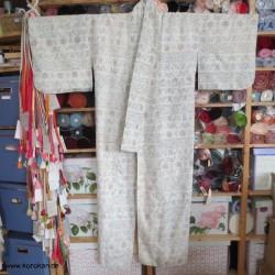 Komon Tsumugi Kimono...