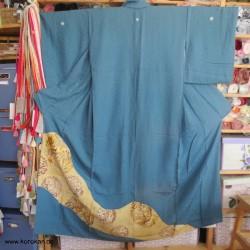 Irotomesode Kimono, goldene...