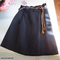 Wickelrock aus schwarzer...