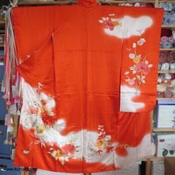 Furisode Kimono persimmon...