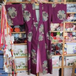 Meisen Komon Kimono pflaume...