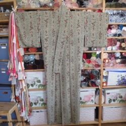 Komon Kimono mit feinem...
