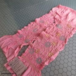 Shibori Obiage kräftig rosa...