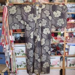 Hitoe Komon Kimono - antik,...