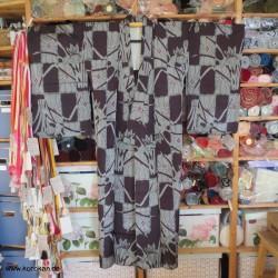 Vintage Hitoe Komon Kimono...