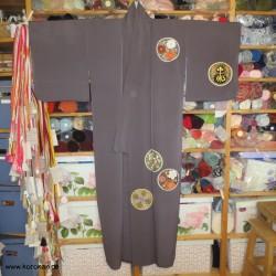 Homongi Kimono, grau mit...