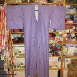 Komon Kimono flieder mit...
