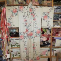 Komon Kimono in dezenten...