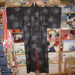 Tsumugi Komon Kimono weiße...