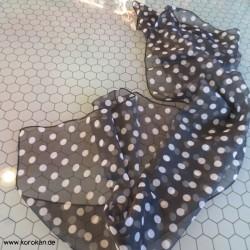 Schal mit kleinen weißen...