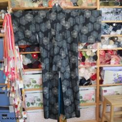 Tsumugi Kimono, blaugrau -...