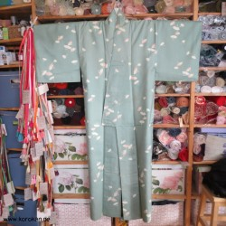Tsumugi Seiden Kimono mit...