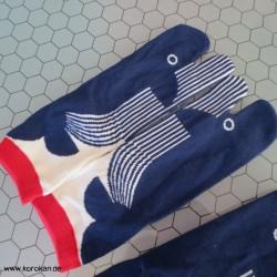 große bunte Tabi Socken,...