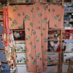 Komon Kimono azalee mit...
