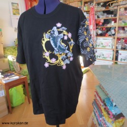 T Shirt mit Rückenmotiv Koi...