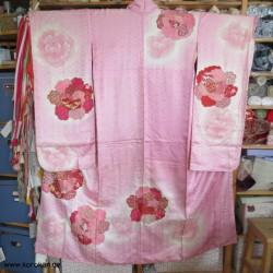 Furisode Kimono, rosa mit...