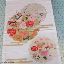 Kimono Seiden Obi Brokat...
