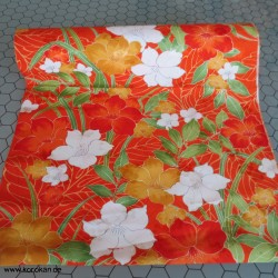 Kimono Stoff, bunte Blumen,...