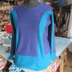 Upcycling Pullover aus zwei...