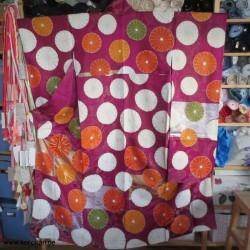 Furisode Kimono mit...