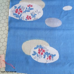 Kimono Stoff, blau mit...