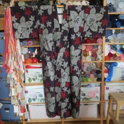 Hitoe Meisen Kimono mit...