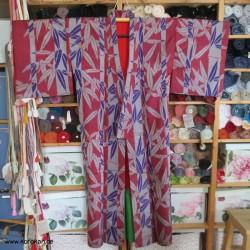 Meisen Komon Kimono Bambus...