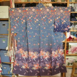Homongi Kimono, Blumen und...