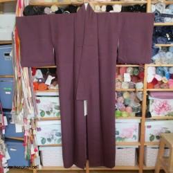 einfarbiger Kimono mit...