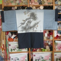 Haori Tsumugi Seiden Kimono...