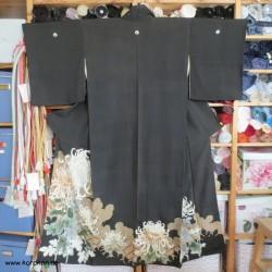 antiker Tomesode Kimono mit...