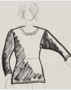 3/4 Arm T-Shirt eigene Fertigung - Korokan